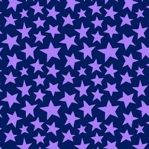 Doodle Stars on Purple