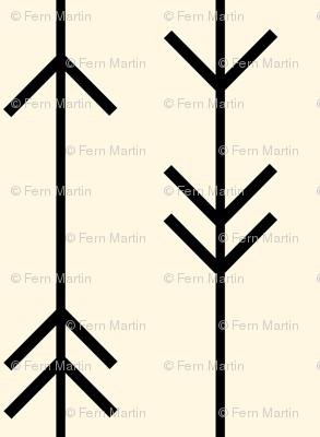 Arrow Lines on Cream