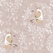 Horse_-_floral_-_warm_grey-02_linen_shop_thumb