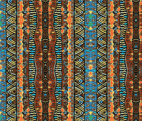 African Sunrise fabric by floramoon on Spoonflower - custom fabric