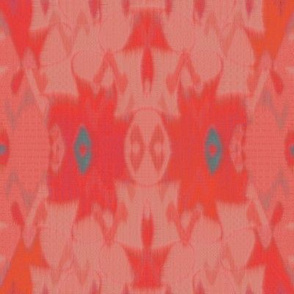 French Ikat (Coral)
