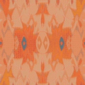 French Ikat (Melon)