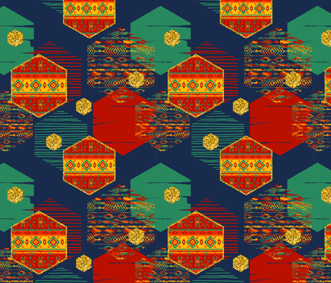 Totally Tribal fabric by floramoon on Spoonflower - custom fabric