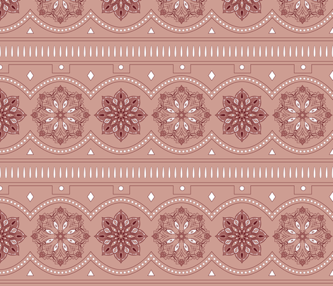 Bohemian pearls fabric by ekpdesign on Spoonflower - custom fabric