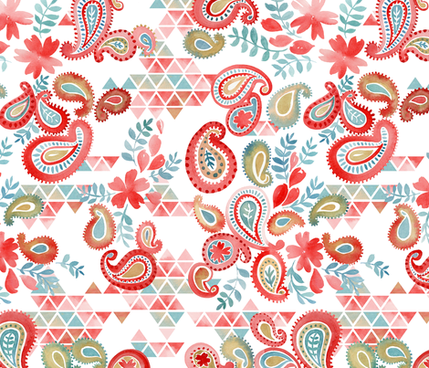 bohemian garden daylight fabric by cjldesigns on Spoonflower - custom fabric