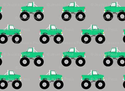 monster trucks - green