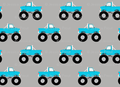 monster trucks - blue