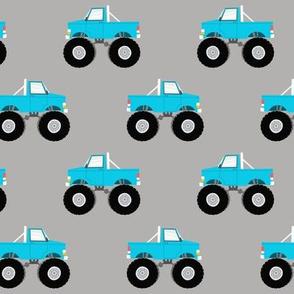 monster trucks - blue