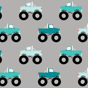 monster trucks - multi blue