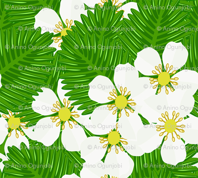 Strawberry_patch_blooms_and_leaves