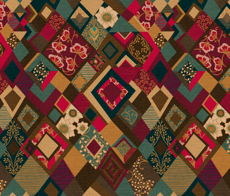 Bohemian Tapestry {Velvet} fabric by ceciliamok on Spoonflower - custom fabric