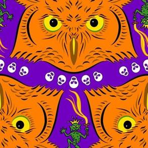 Owls Demons Skulls