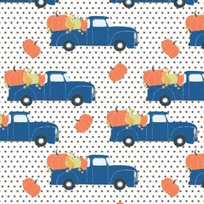 "4"" Fun At The Pumpkin Patch - Brown Polka Dots"