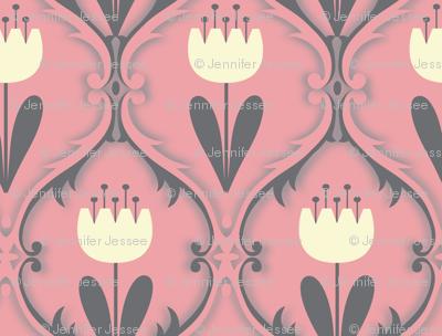 bohemian  tulip in pink