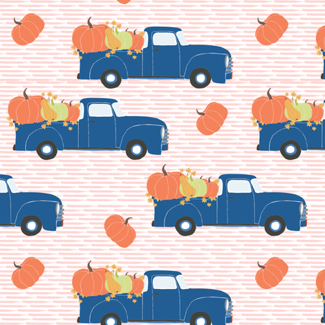 "6"" Fun At The Pumpkin Patch - Pink Stripes fabric by shopcabin on Spoonflower - custom fabric"