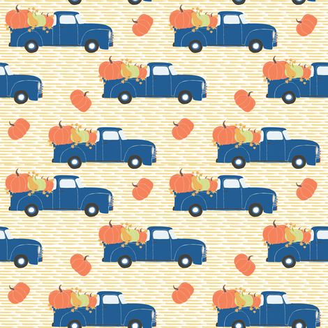 """4"""" Fun At The Pumpkin Patch - Yellow Stripes fabric by shopcabin on Spoonflower - custom fabric"""