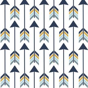 "2"" x 9"" Blue Gold Arrow"