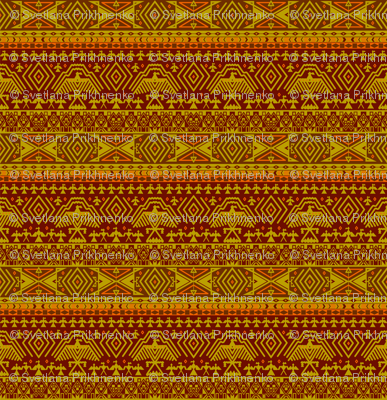 Yellow tribal design