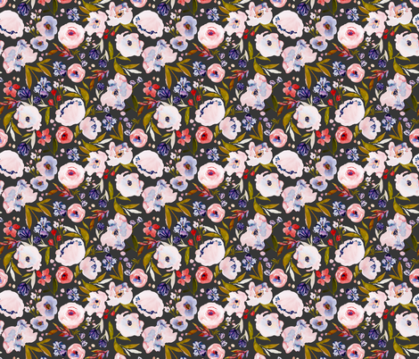 Indy Bloom Design Harriet Dark B fabric by indybloomdesign on Spoonflower - custom fabric