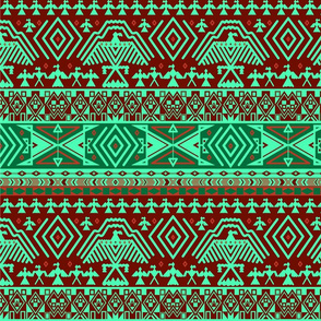 Green tribal design