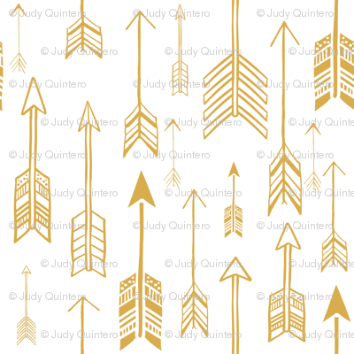 """21"""" Gold & White Background  Rustic Arrows"""