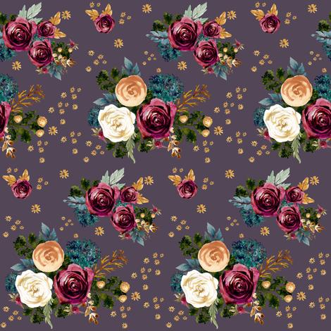"4"" September Rain - Muted Eggplant fabric by shopcabin on Spoonflower - custom fabric"