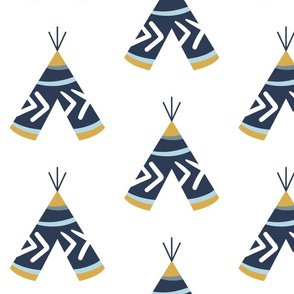 "7"" Gold Blue White Teepee / More Space"