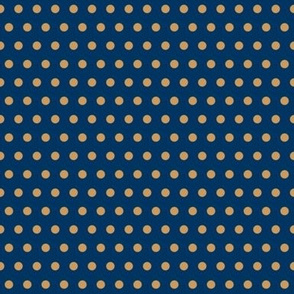 Polka Dots in Tan on Navy