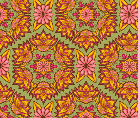 Bohemian Floral fabric by sufficiency on Spoonflower - custom fabric