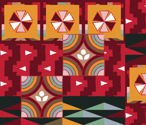 Geometric-Boho fabric by bashfulbirdie on Spoonflower - custom fabric