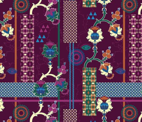 Bohemian&Tribal (Patchwork) fabric by vannina on Spoonflower - custom fabric