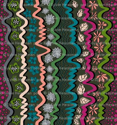 Bohemian_Stripe cool colours.