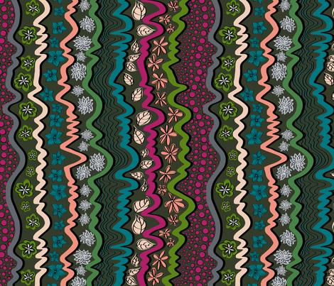 Bohemian_Stripe cool colours. fabric by house_of_heasman on Spoonflower - custom fabric
