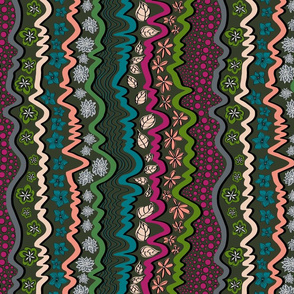 Bohemian_Stripe cool colours.