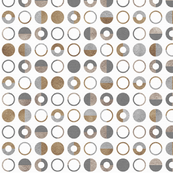 Circle Data in Brown and Gray
