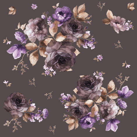 """8"""" Province Blush - Dusty Brown fabric by shopcabin on Spoonflower - custom fabric"""