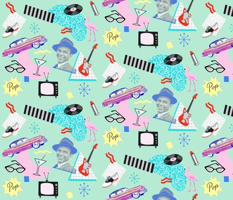 Swingin' Sinatra fabric by ruby_ritz on Spoonflower - custom fabric