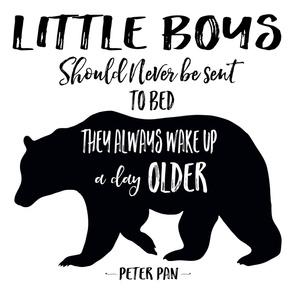 "42""x72"" - Little Boys Quote Bear"