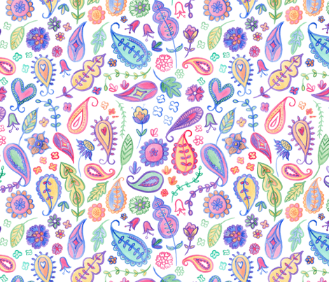 Bohemian fabric by les_ephelides_design on Spoonflower - custom fabric