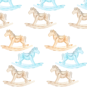rocking horse blue