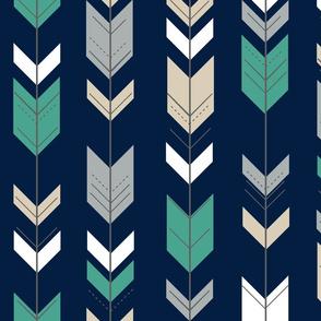 fletching arrows on navy