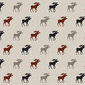 Moose (halfscale) - maroon, black, and tan-
