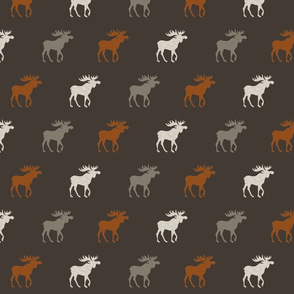 Moose - Halfscale- Redstone Canyon - Rust, Taupe/Grey, Linen on Brown-ch