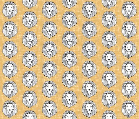 LionHDMustard fabric by wolfandrabbitfabrics on Spoonflower - custom fabric