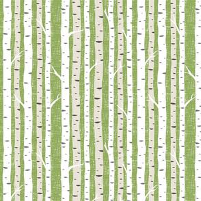Birch Trees Avocado