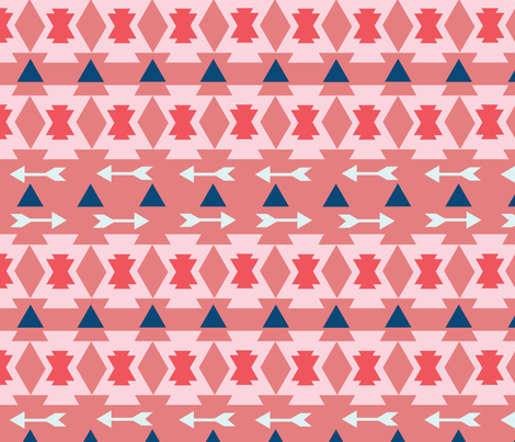 Bohemian Pink  fabric by kellie_jayne_ on Spoonflower - custom fabric