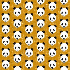 Panda Face on Mustard