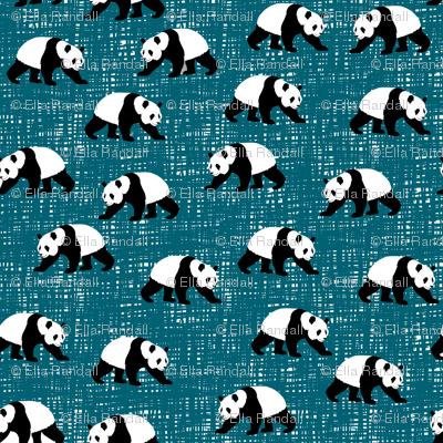 Pandas Walking Teal