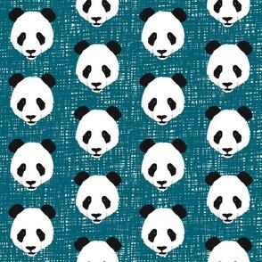Panda on Teal