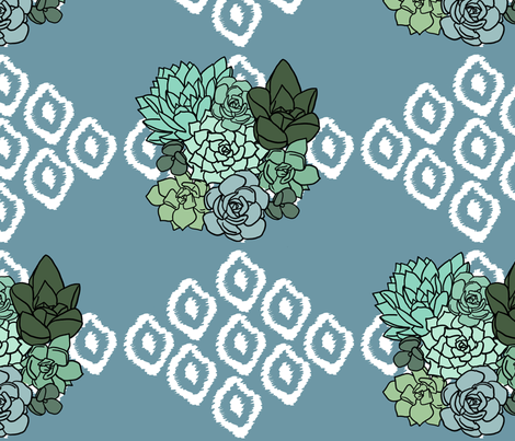 Boho Succulents fabric by lacenstone on Spoonflower - custom fabric